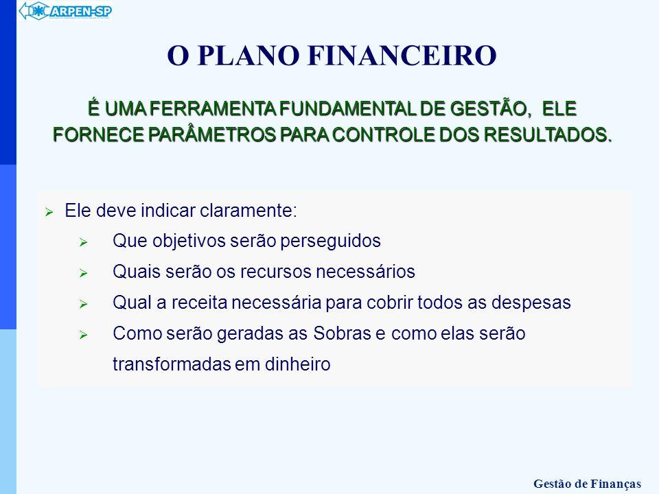 O PLANO FINANCEIROÉ UMA FERRAMENTA FUNDAMENTAL DE GESTÃO, ELE FORNECE PARÂMETROS PARA CONTROLE DOS RESULTADOS.