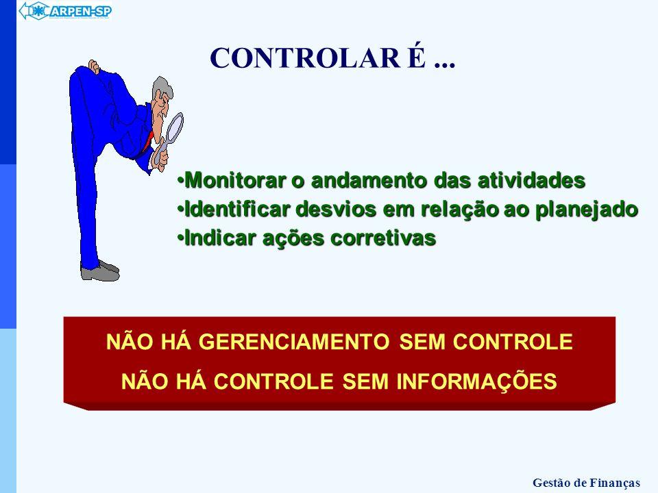 NÃO HÁ GERENCIAMENTO SEM CONTROLE NÃO HÁ CONTROLE SEM INFORMAÇÕES