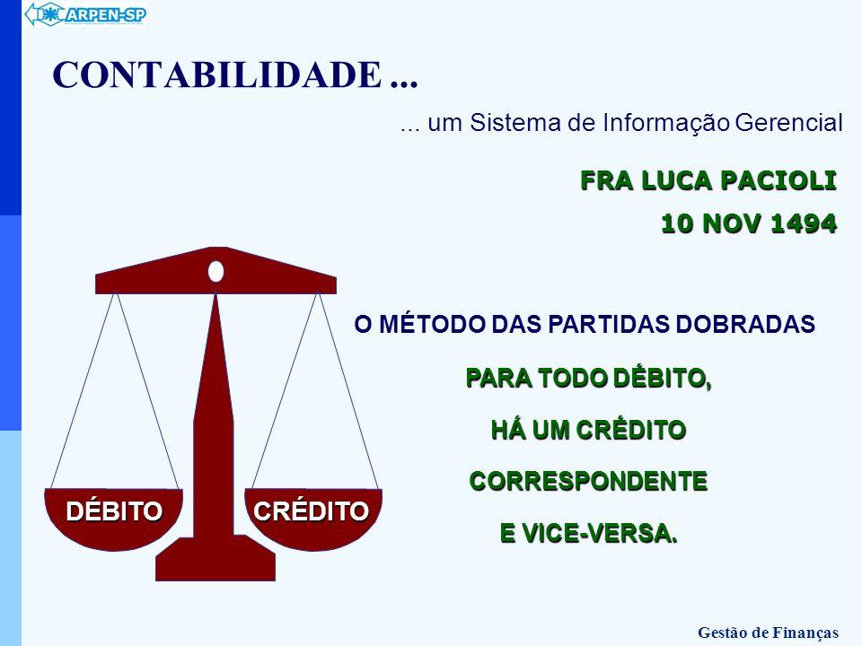 CONTABILIDADE ... DÉBITO CRÉDITO