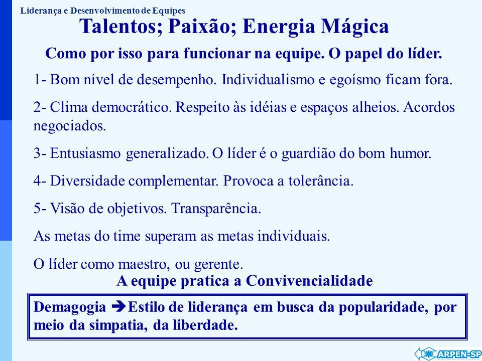 Talentos; Paixão; Energia Mágica