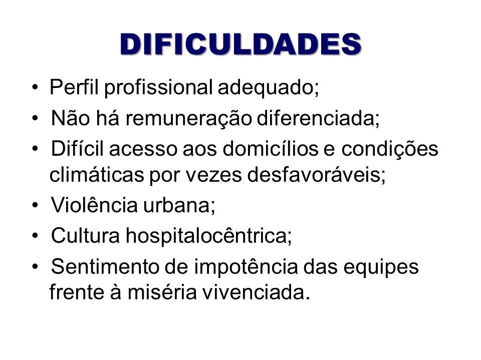 DIFICULDADES Perfil profissional adequado;