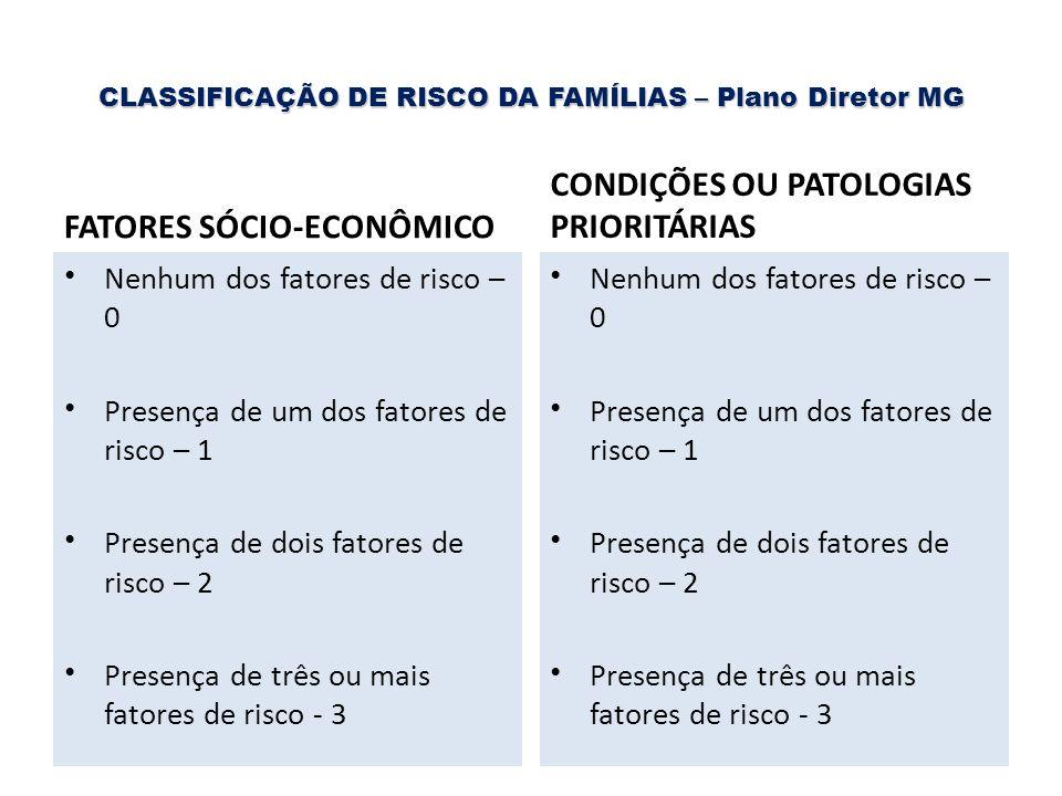 CLASSIFICAÇÃO DE RISCO DA FAMÍLIAS – Plano Diretor MG