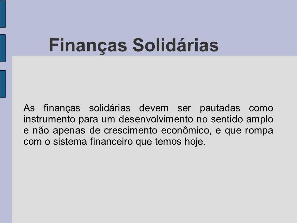 Finanças Solidárias