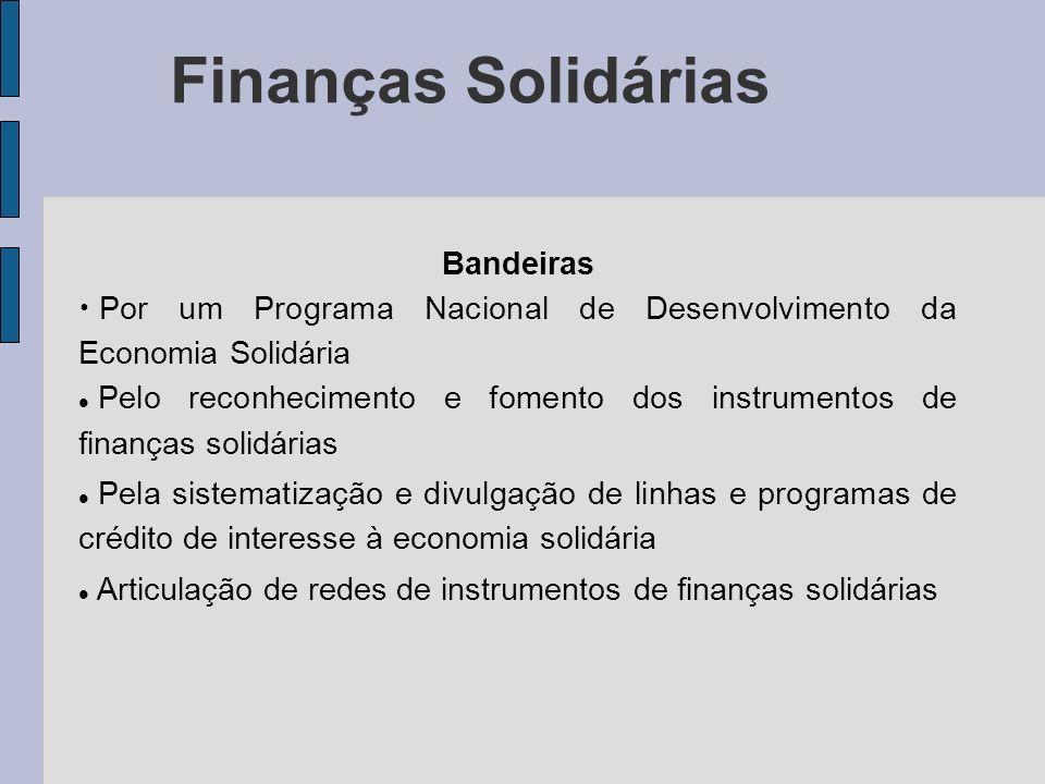 Finanças Solidárias Bandeiras