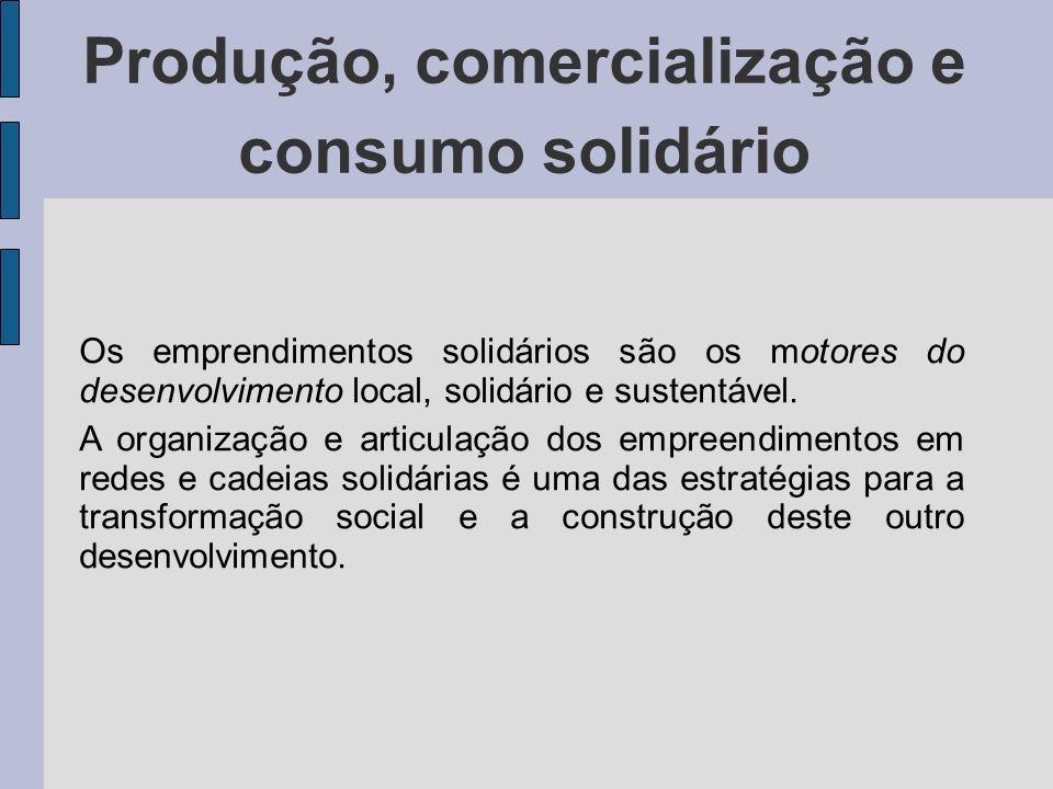 Produção, comercialização e consumo solidário
