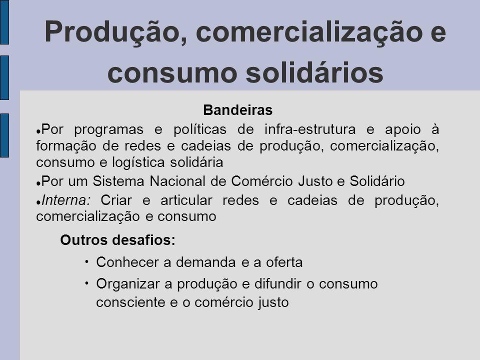 Produção, comercialização e consumo solidários