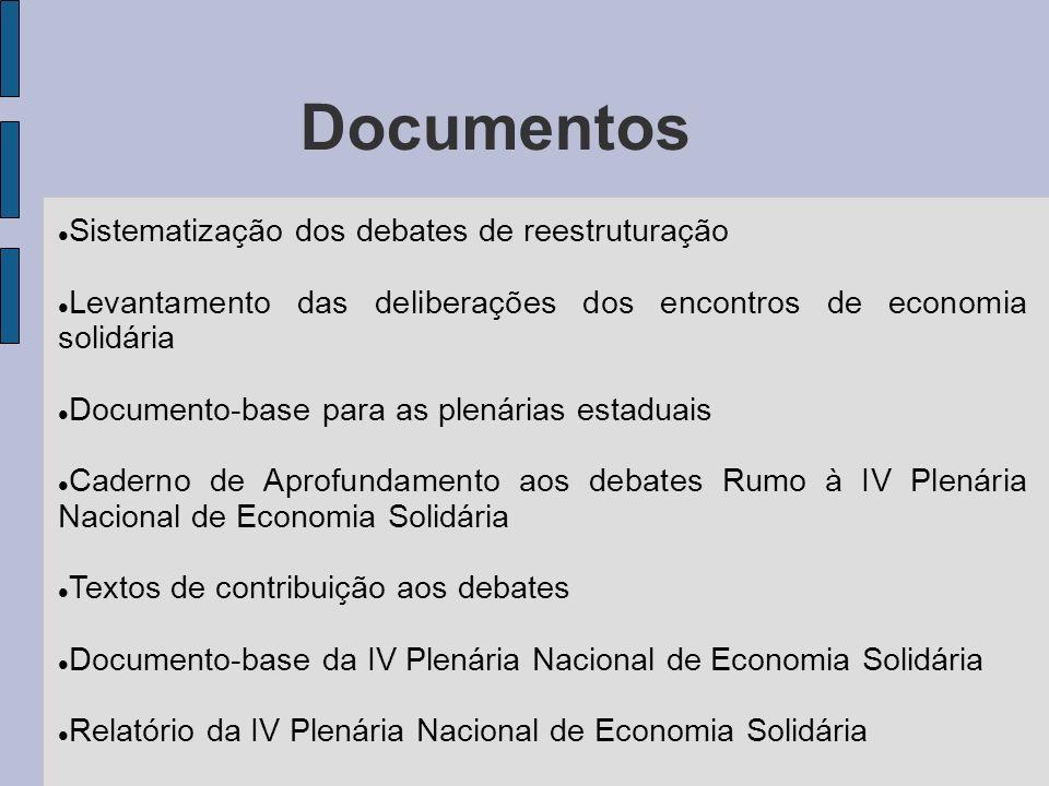 Documentos Sistematização dos debates de reestruturação