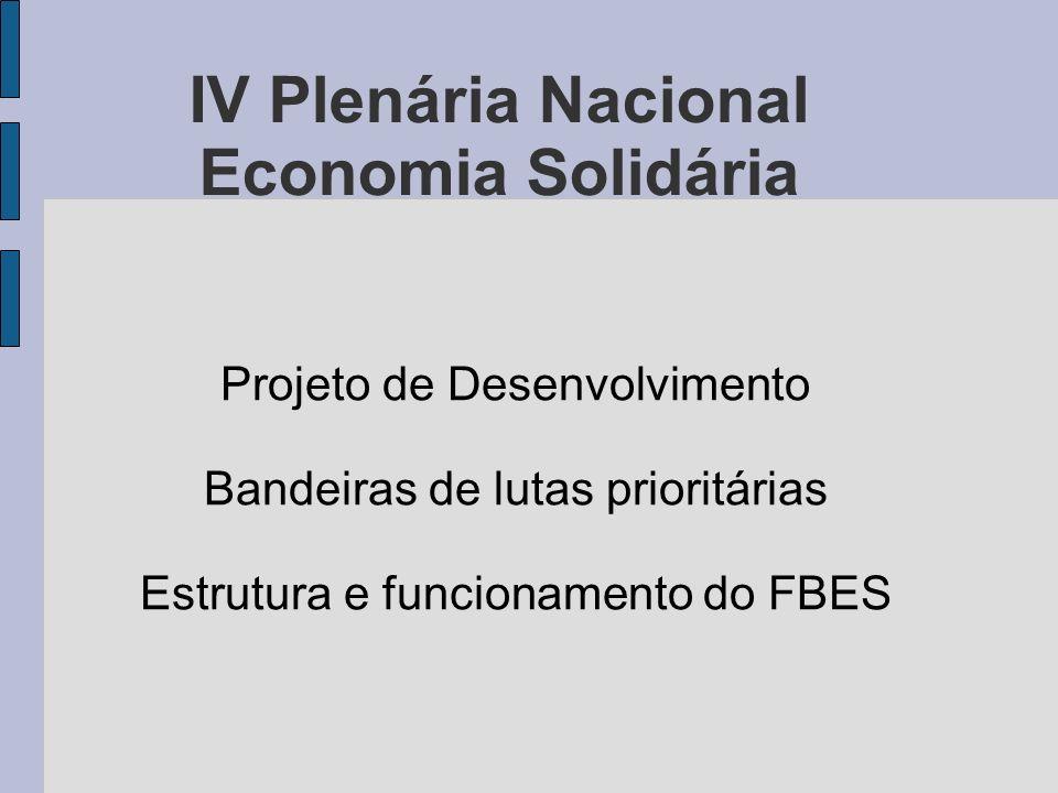 IV Plenária Nacional Economia Solidária