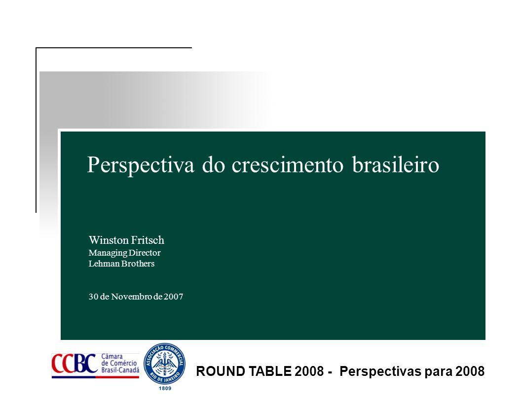 Perspectiva do crescimento brasileiro