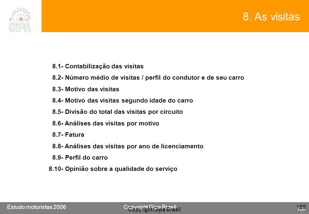 8. As visitas 8.1- Contabilização das visitas