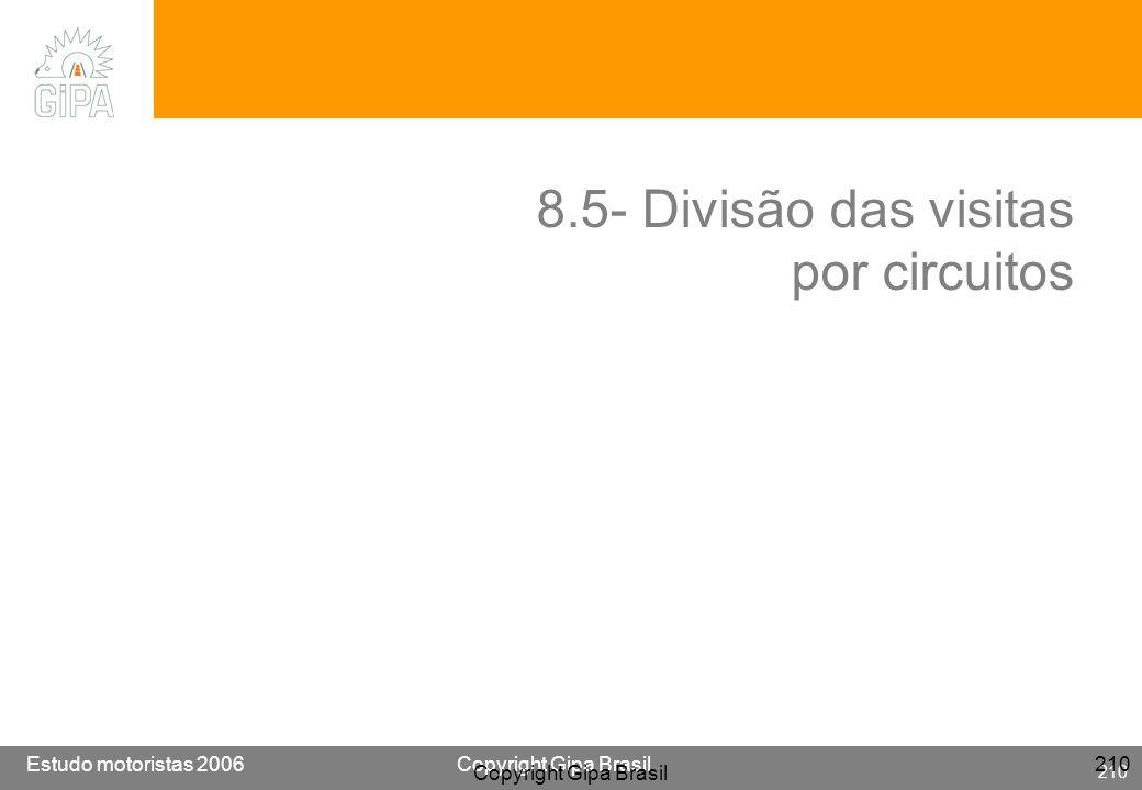8.5- Divisão das visitas por circuitos