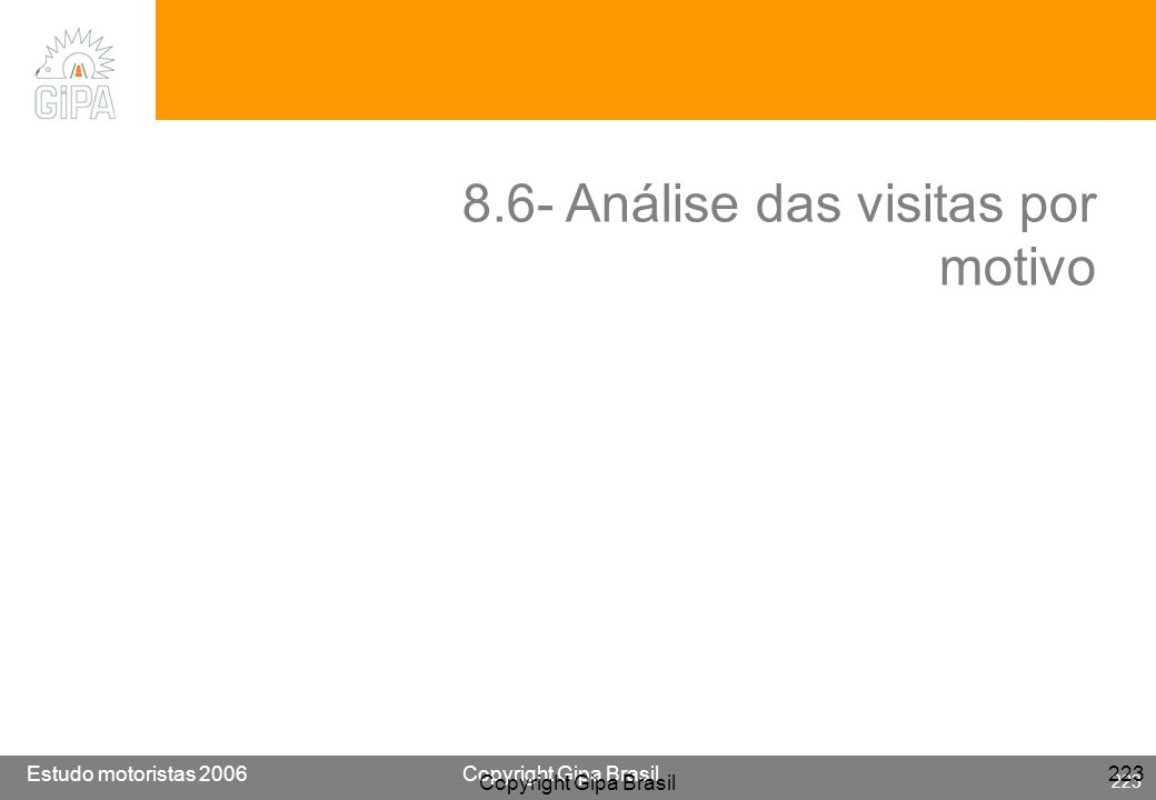 8.6- Análise das visitas por motivo