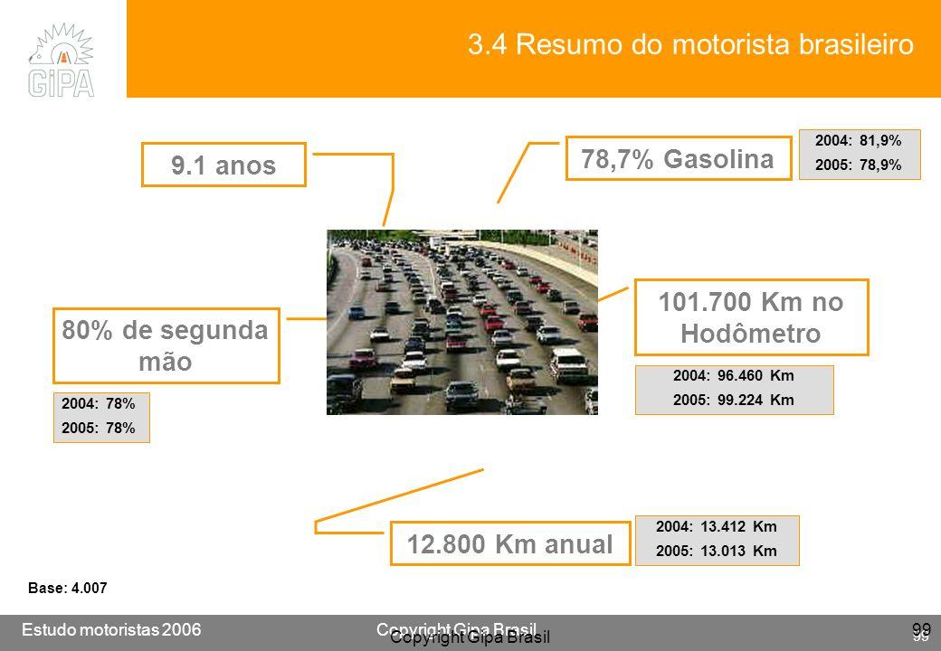 3.4 Resumo do motorista brasileiro