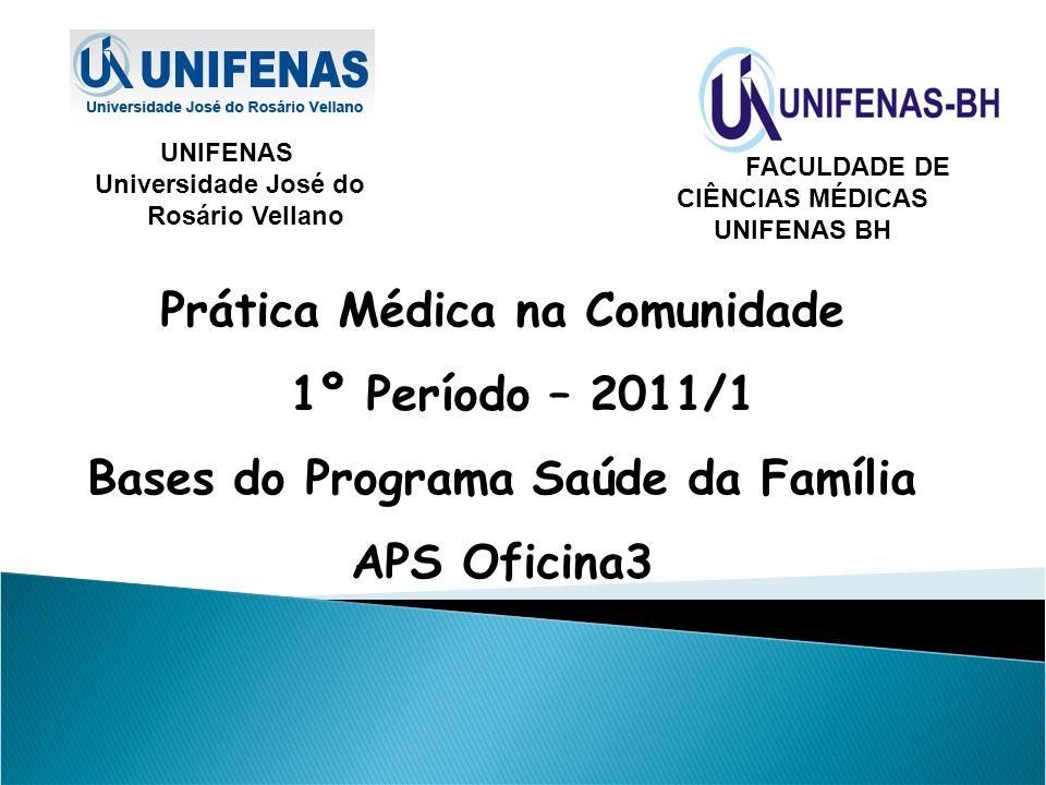 Prática Médica na Comunidade 1º Período – 2011/1