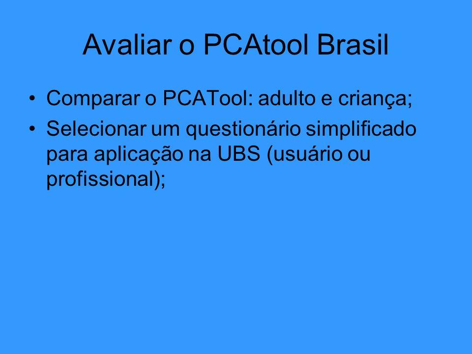 Avaliar o PCAtool Brasil