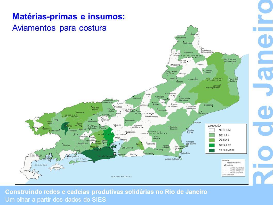 Rio de Janeiro Matérias-primas e insumos: Aviamentos para costura