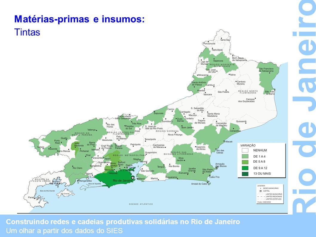 Rio de Janeiro Matérias-primas e insumos: Tintas