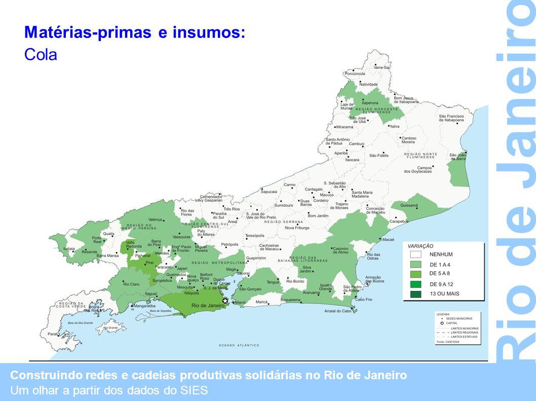 Rio de Janeiro Matérias-primas e insumos: Cola