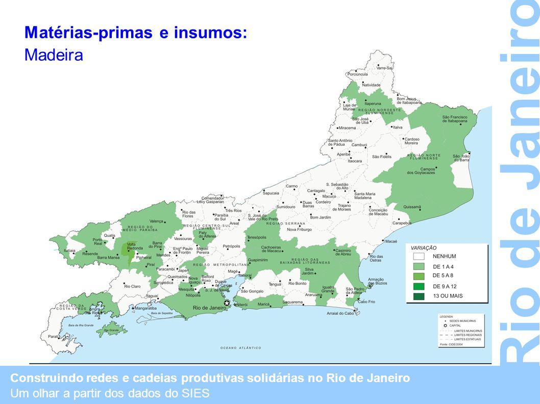 Rio de Janeiro Matérias-primas e insumos: Madeira