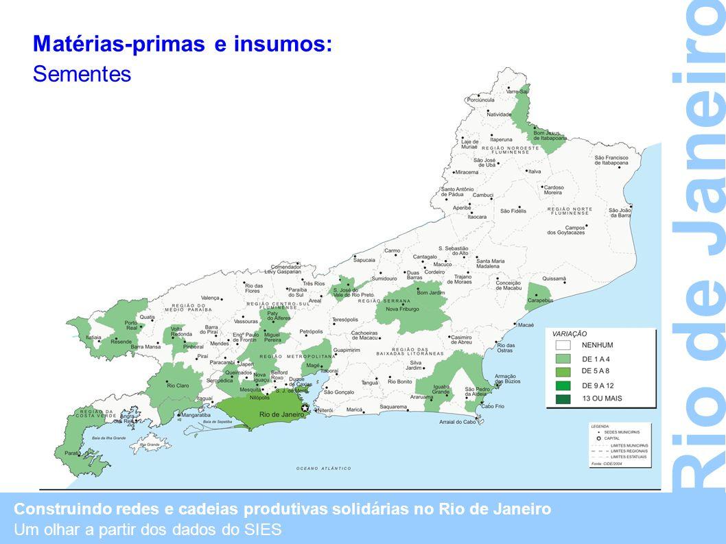 Rio de Janeiro Matérias-primas e insumos: Sementes