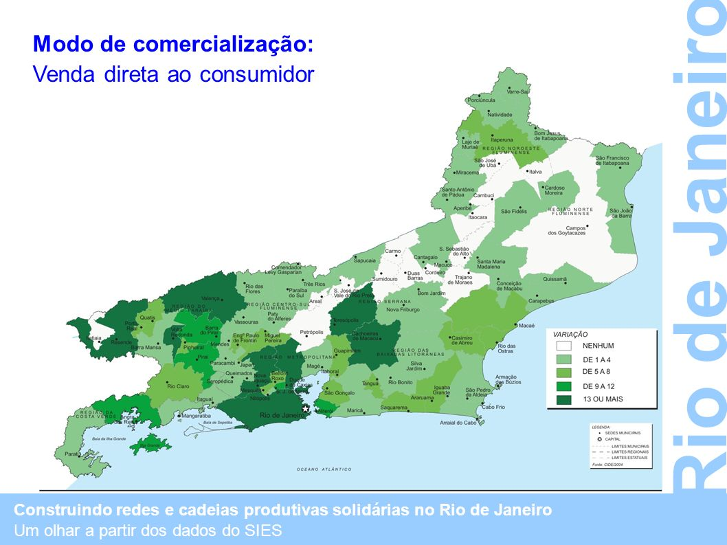 Rio de Janeiro Modo de comercialização: Venda direta ao consumidor