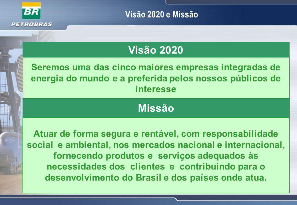 Visão 2020 Missão Visão 2020 e Missão