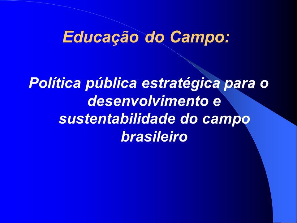 Educação do Campo: Política pública estratégica para o desenvolvimento e sustentabilidade do campo brasileiro.
