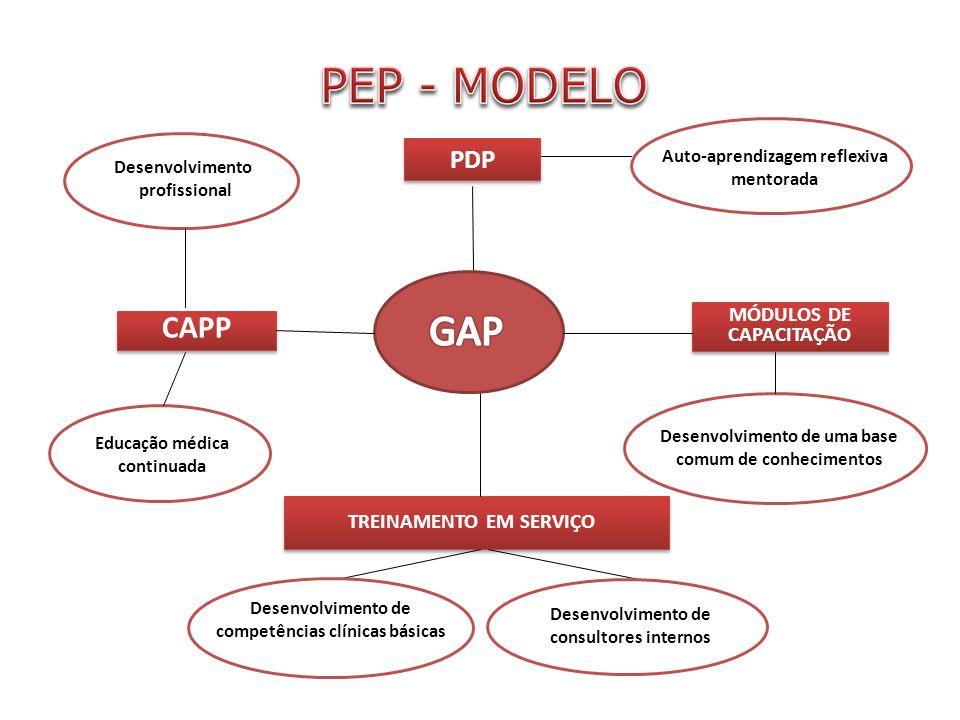 PEP - MODELO GAP CAPP PDP MÓDULOS DE CAPACITAÇÃO