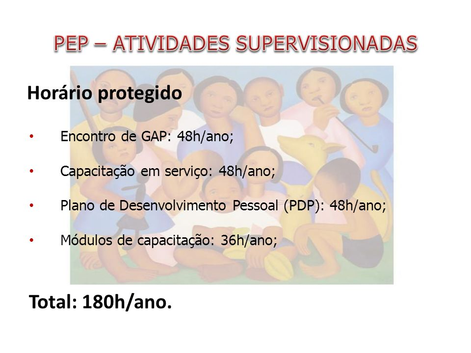 PEP – ATIVIDADES SUPERVISIONADAS