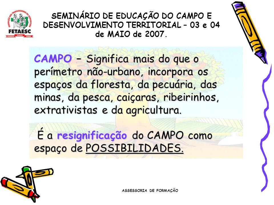 ASSESSORIA DE FORMAÇÃO