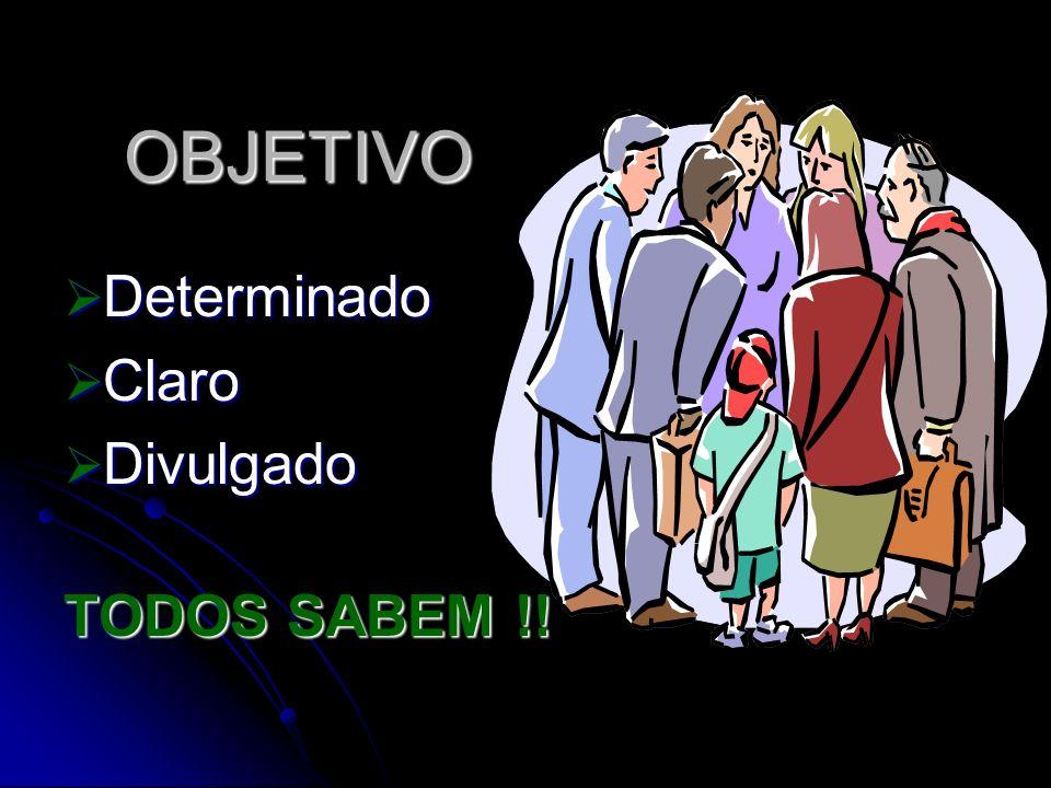 OBJETIVO Determinado Claro Divulgado TODOS SABEM !!