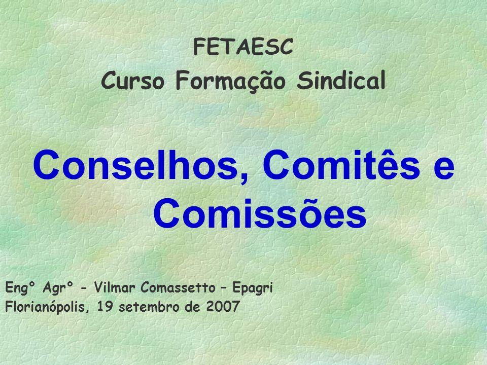 Curso Formação Sindical Conselhos, Comitês e Comissões