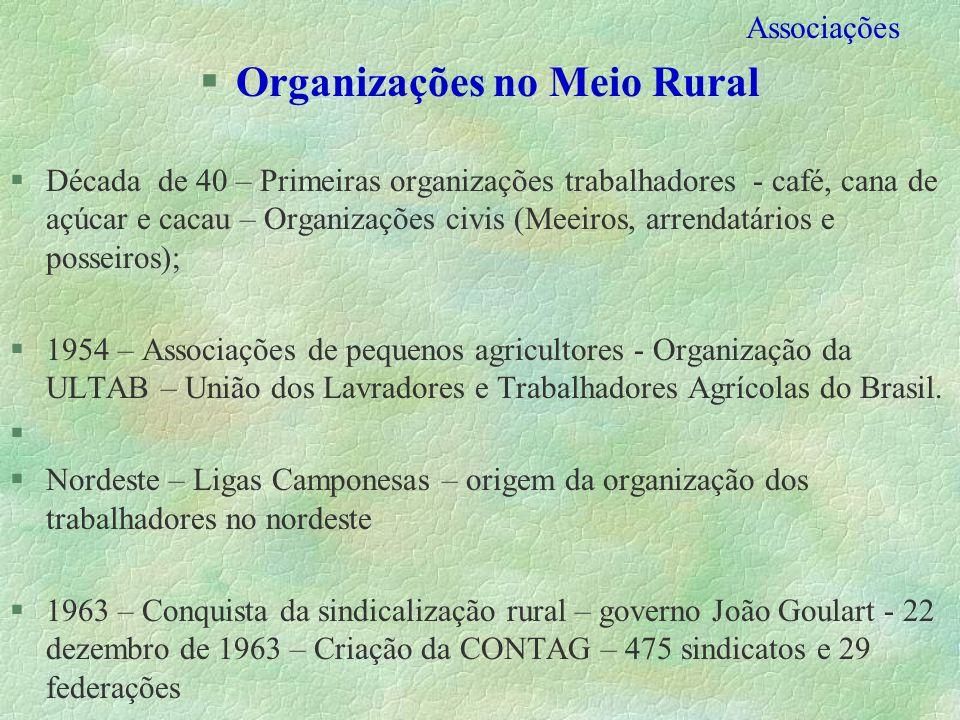 Organizações no Meio Rural