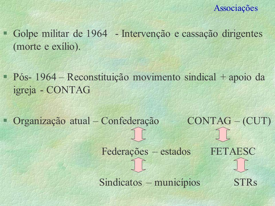Organização atual – Confederação CONTAG – (CUT)