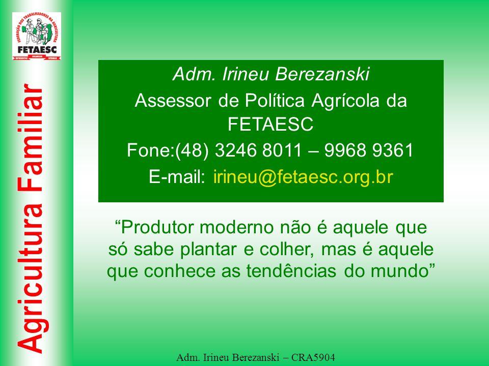 Assessor de Política Agrícola da FETAESC
