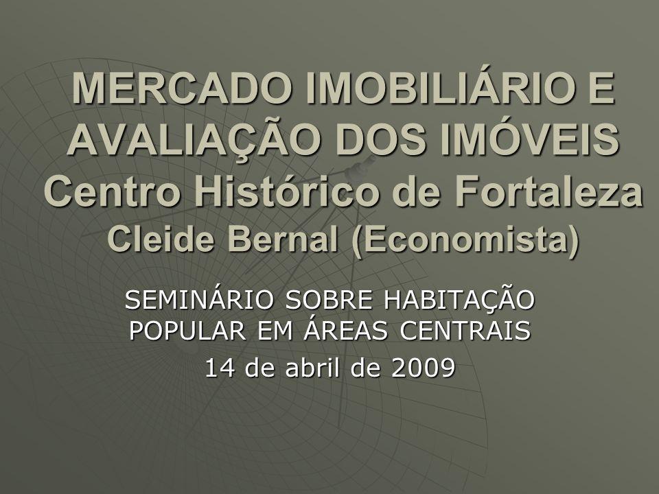 SEMINÁRIO SOBRE HABITAÇÃO POPULAR EM ÁREAS CENTRAIS