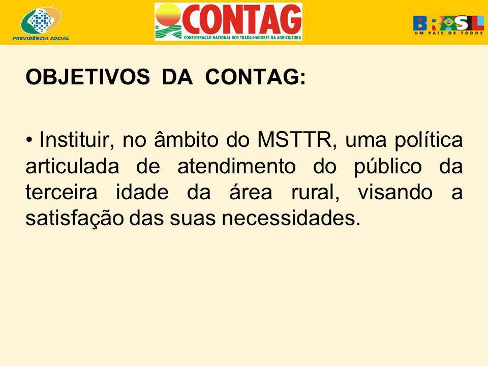 OBJETIVOS DA CONTAG: