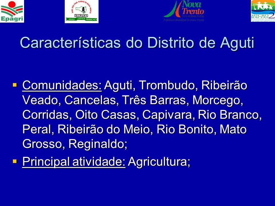 Características do Distrito de Aguti