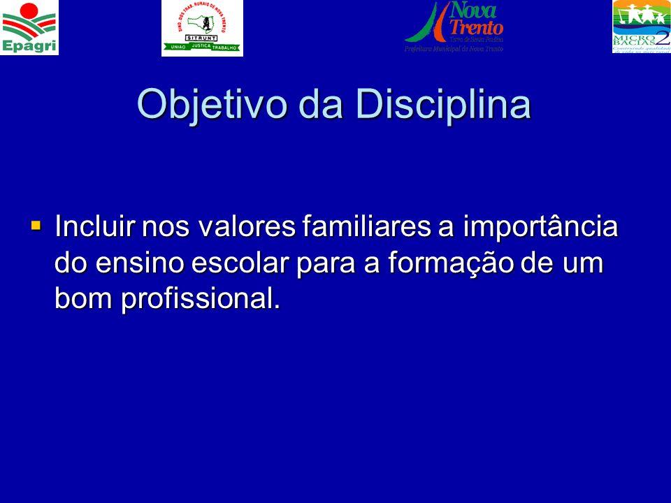 Objetivo da Disciplina