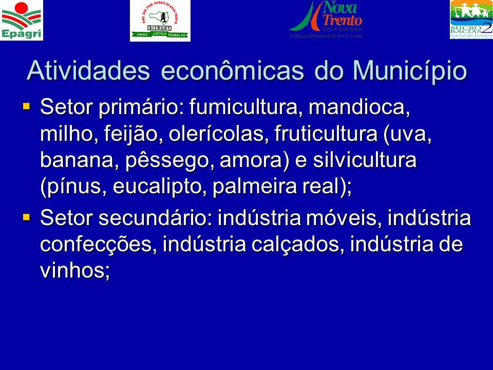 Atividades econômicas do Município