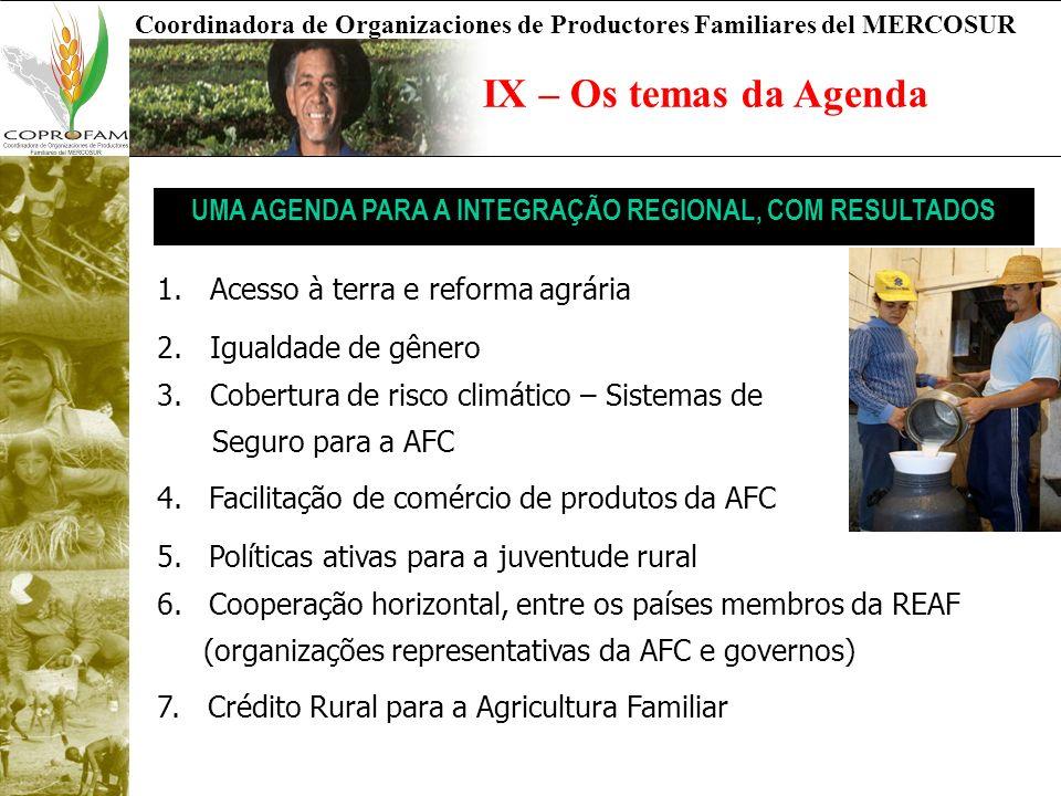 UMA AGENDA PARA A INTEGRAÇÃO REGIONAL, COM RESULTADOS