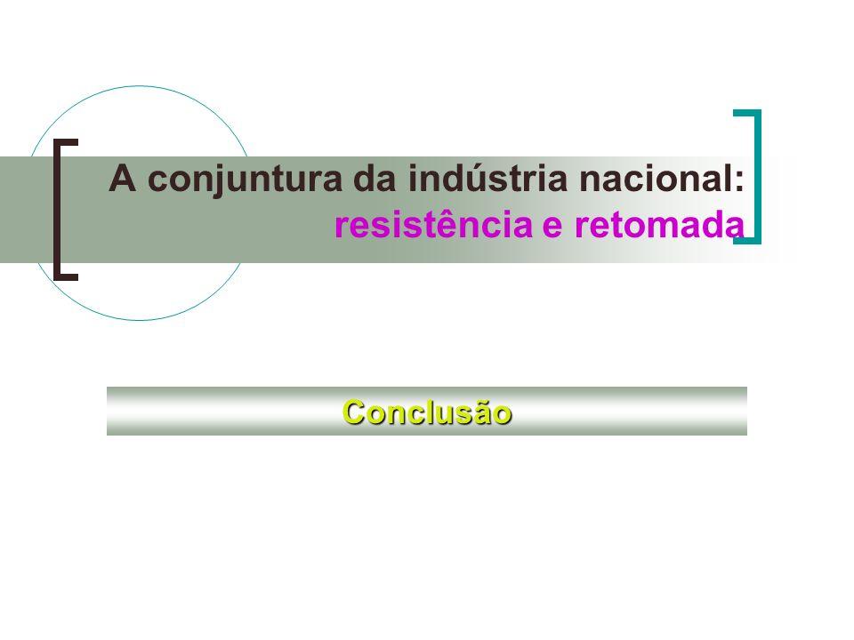 A conjuntura da indústria nacional: resistência e retomada