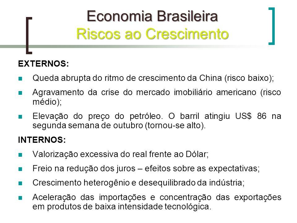 Economia Brasileira Riscos ao Crescimento