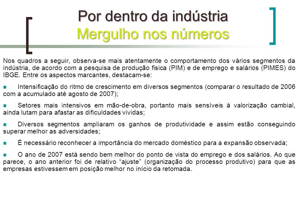 Por dentro da indústria Mergulho nos números