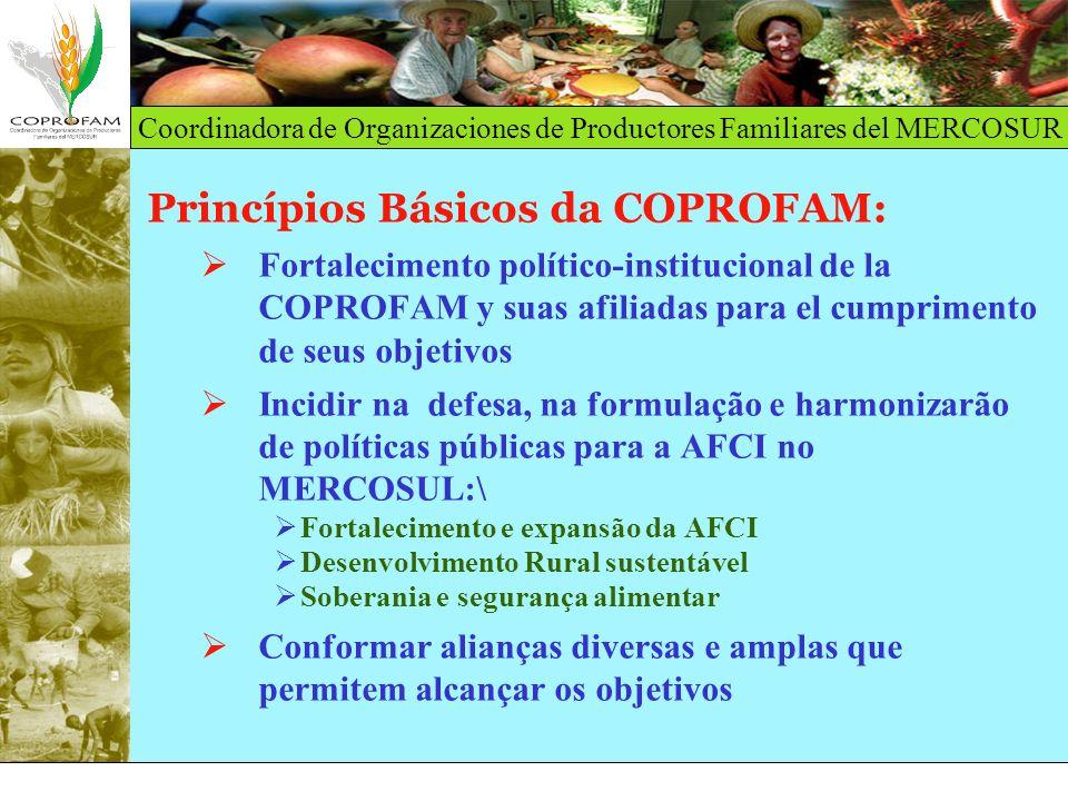 Princípios Básicos da COPROFAM: