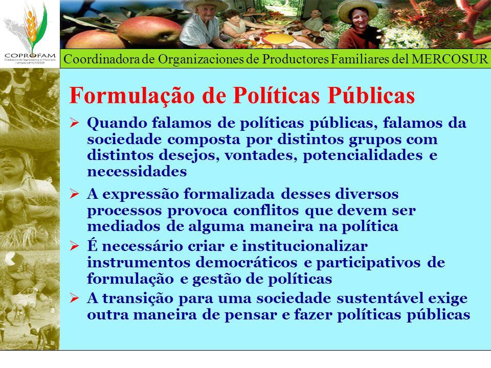 Formulação de Políticas Públicas