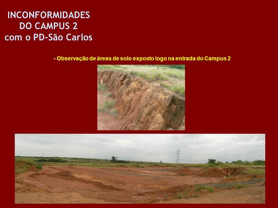 INCONFORMIDADES DO CAMPUS 2 com o PD-São Carlos