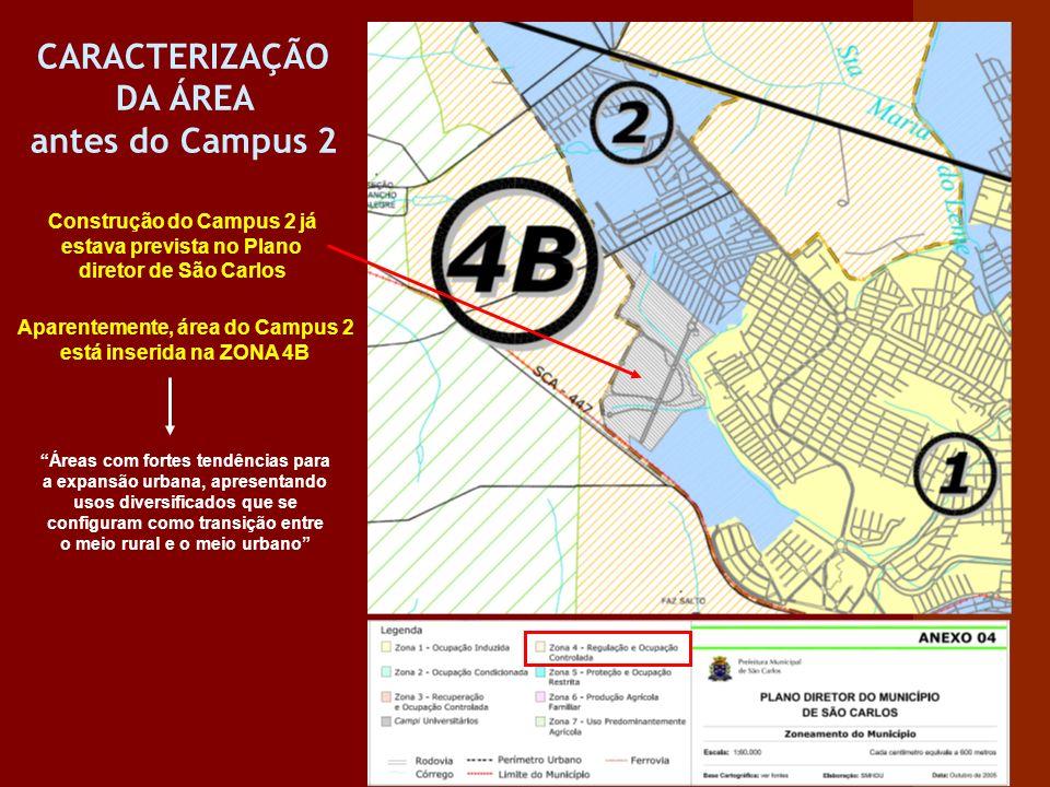 CARACTERIZAÇÃO DA ÁREA antes do Campus 2