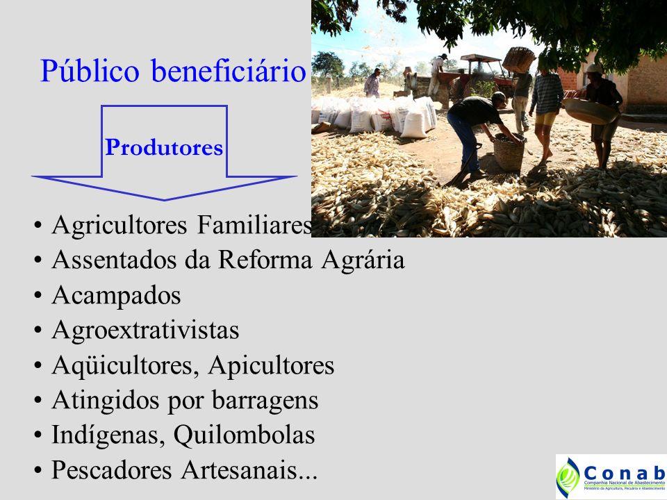 Público beneficiário Agricultores Familiares