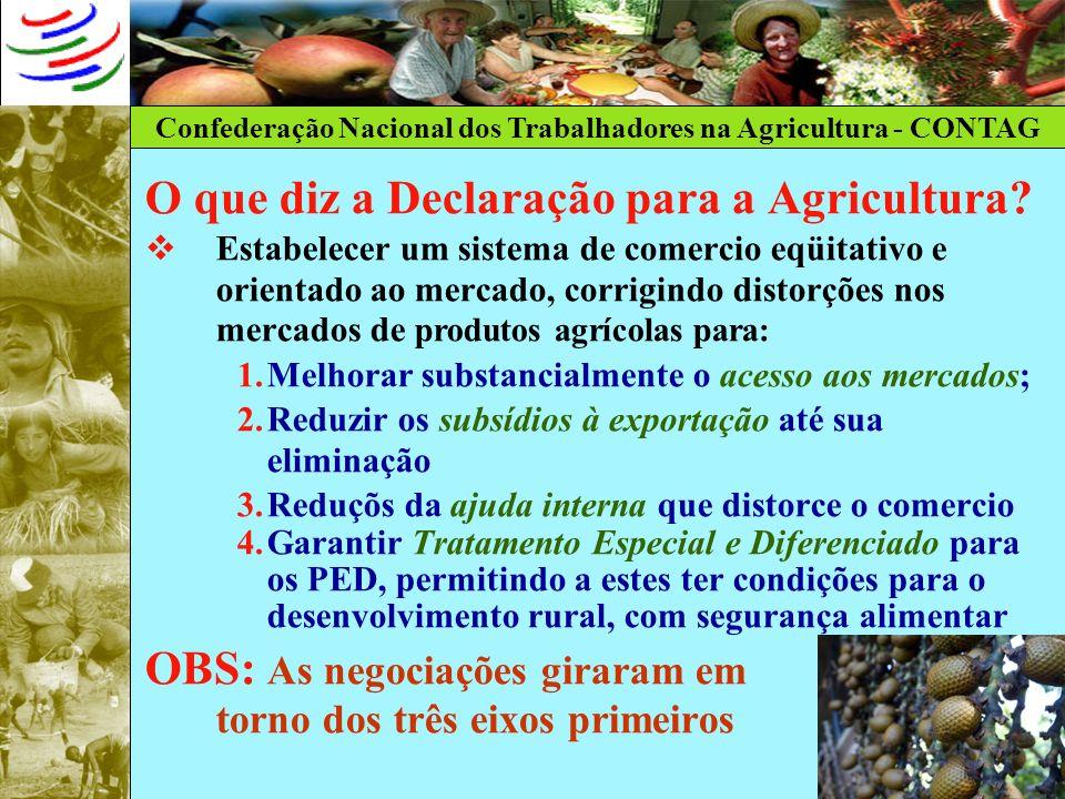 O que diz a Declaração para a Agricultura